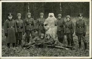 Fasching 1943, hier habe ich mich als Leitwolf verkleidet