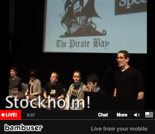 The TPB trial press-conference from Stockholm, 15. 02. 2009