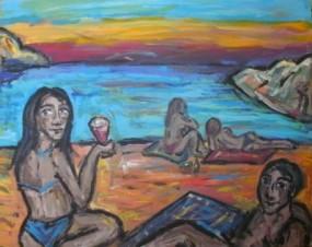 Ein Abend am Meer